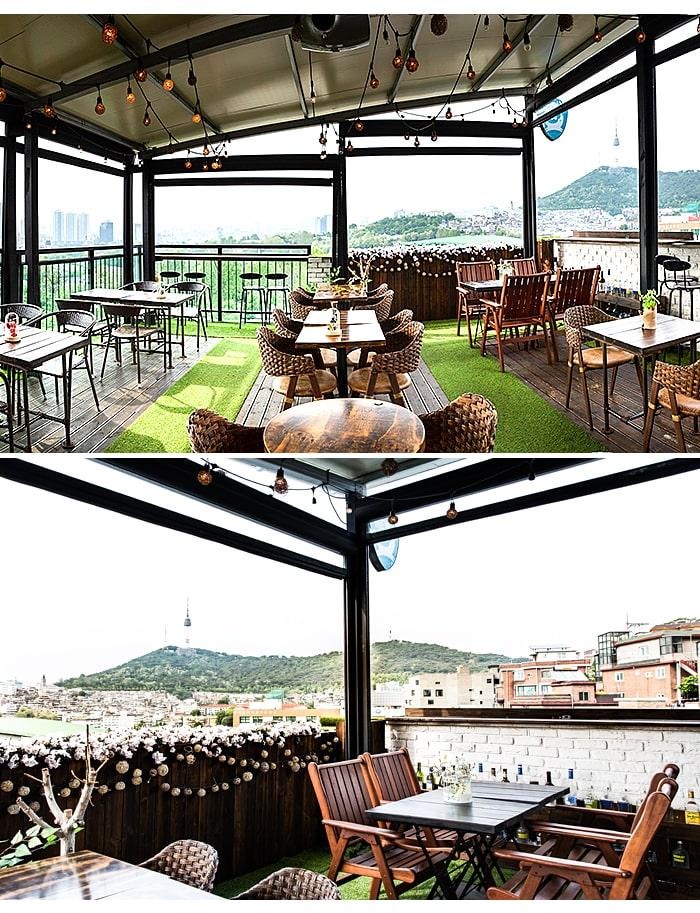 [主题频道/美食] 踮起脚尖享受天空景致的梨泰院屋顶咖啡厅 BEST 3