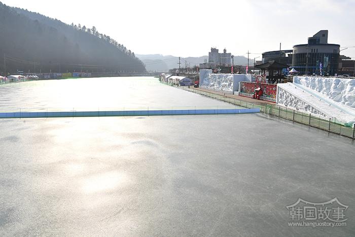 [江原道华川] 具备最佳结冰条件后再次结冰的庆典场